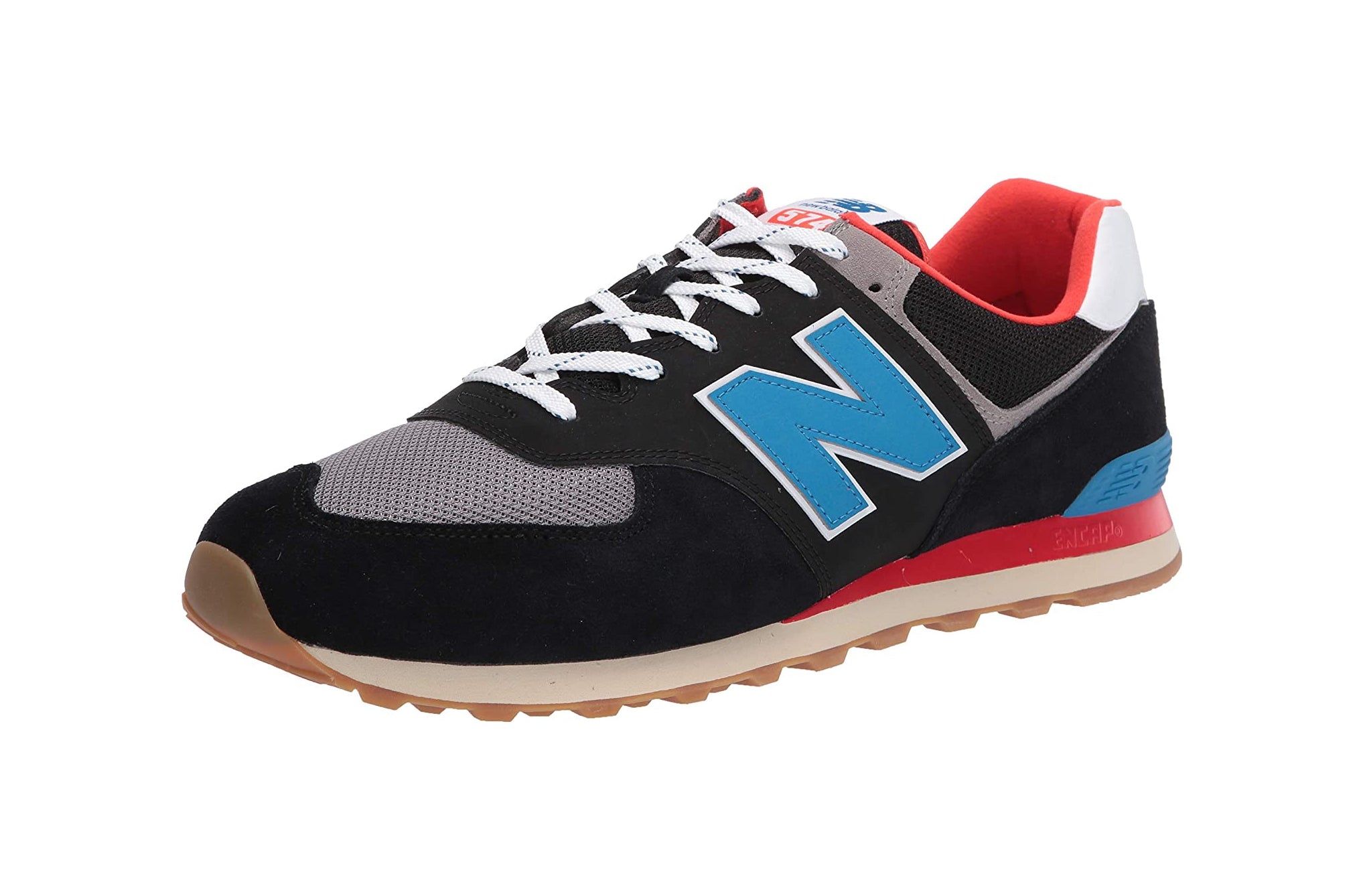 New Balance 574 Black/Gum Men's Shoes