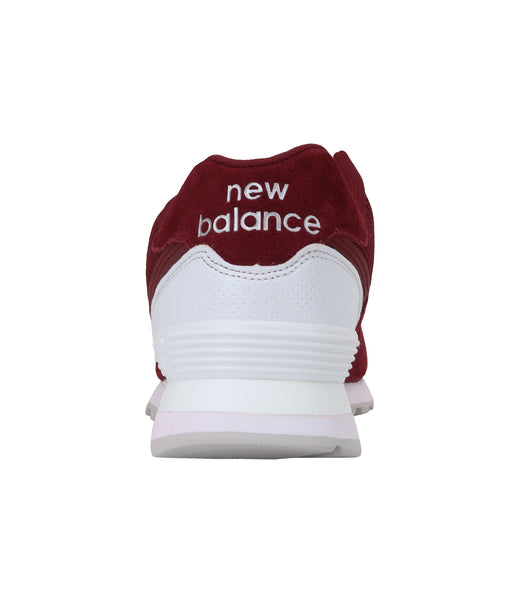 New Balance 574 Burgundy/White Men's Shoes