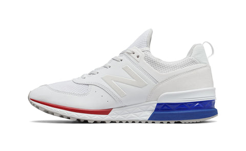 New Balance 574 White/Blue Men's Shoes
