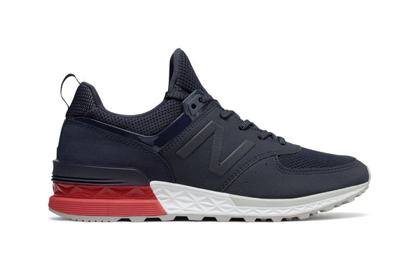 New Balance 574 Navy/White/Red Men's Shoes