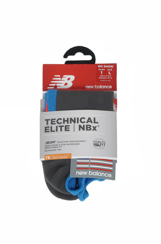 New Balance Technical Elite No Show Grey/Blue Men Socks