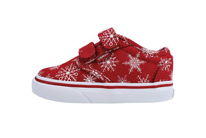 Vans Atwood V Snowflakes Red Infant/Toddler Shoes