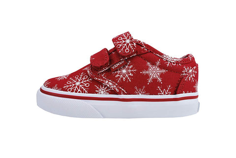 Vans Atwood V Snowflakes Red Toddler Shoes