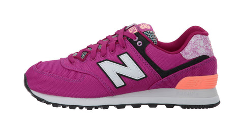 New Balance 574 Fushia/White Women's Shoes