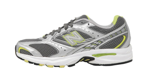 New Balance 400 Wide Grey/Wilver/Green Women's Shoes