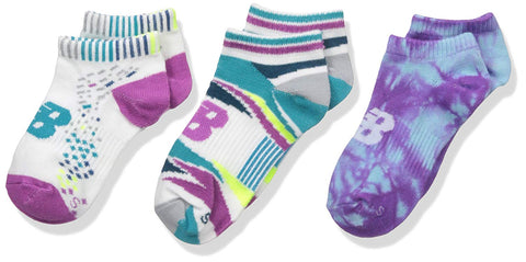 New Balance Pattern Low Cut Multi Color Mix and Match Kids Socks