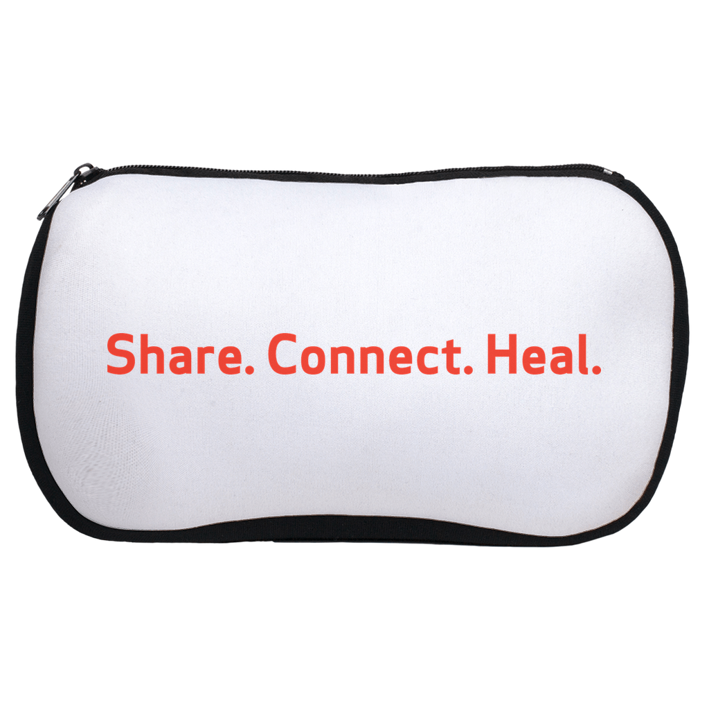 Share. Connect. Heal. Cosmetic Bag
