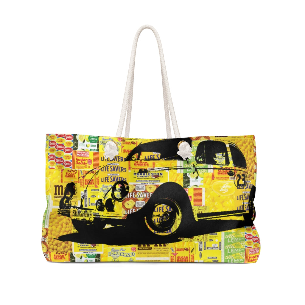 Weekender Bag Designed by Dr. David Turok, Brushes with Cancer Chicago Artist