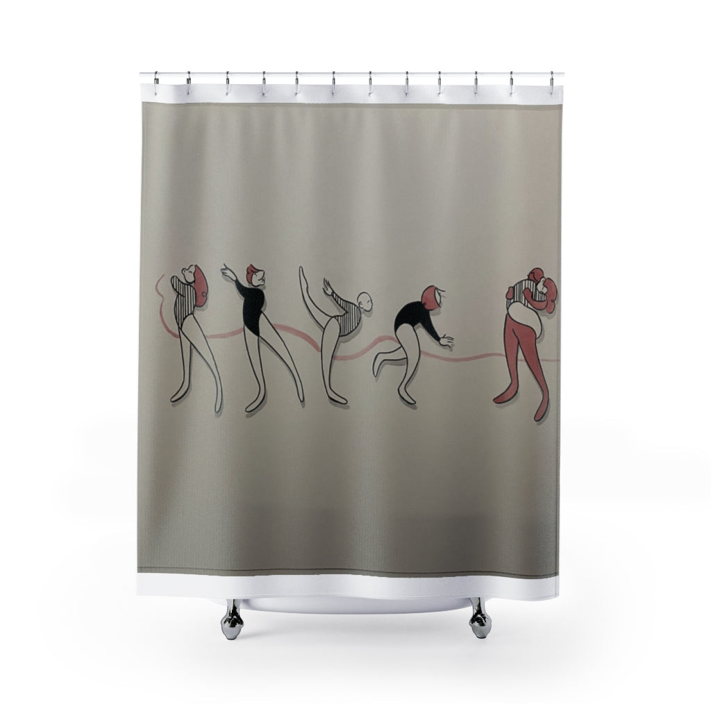 Shower Curtain by Elya Stumbaugh inspired by Ava Blaser