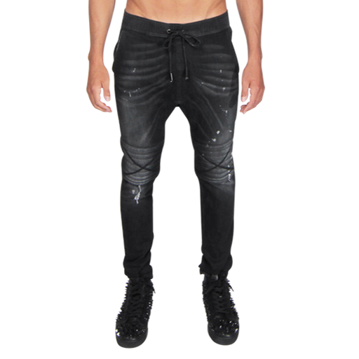 Damian moto jeans in bel air black