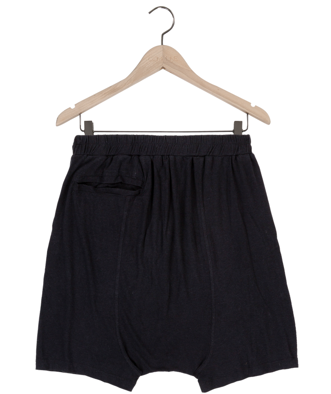 Dany drop crotch jersey shorts in black
