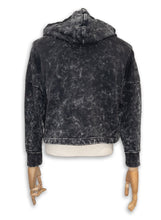 Load image into Gallery viewer, Jett Crop Hoodie / Black Acid