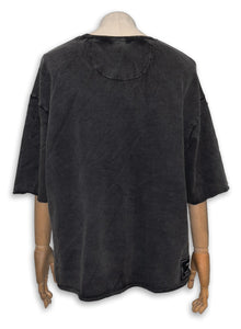 Yao French Terry Tee / Black Sand