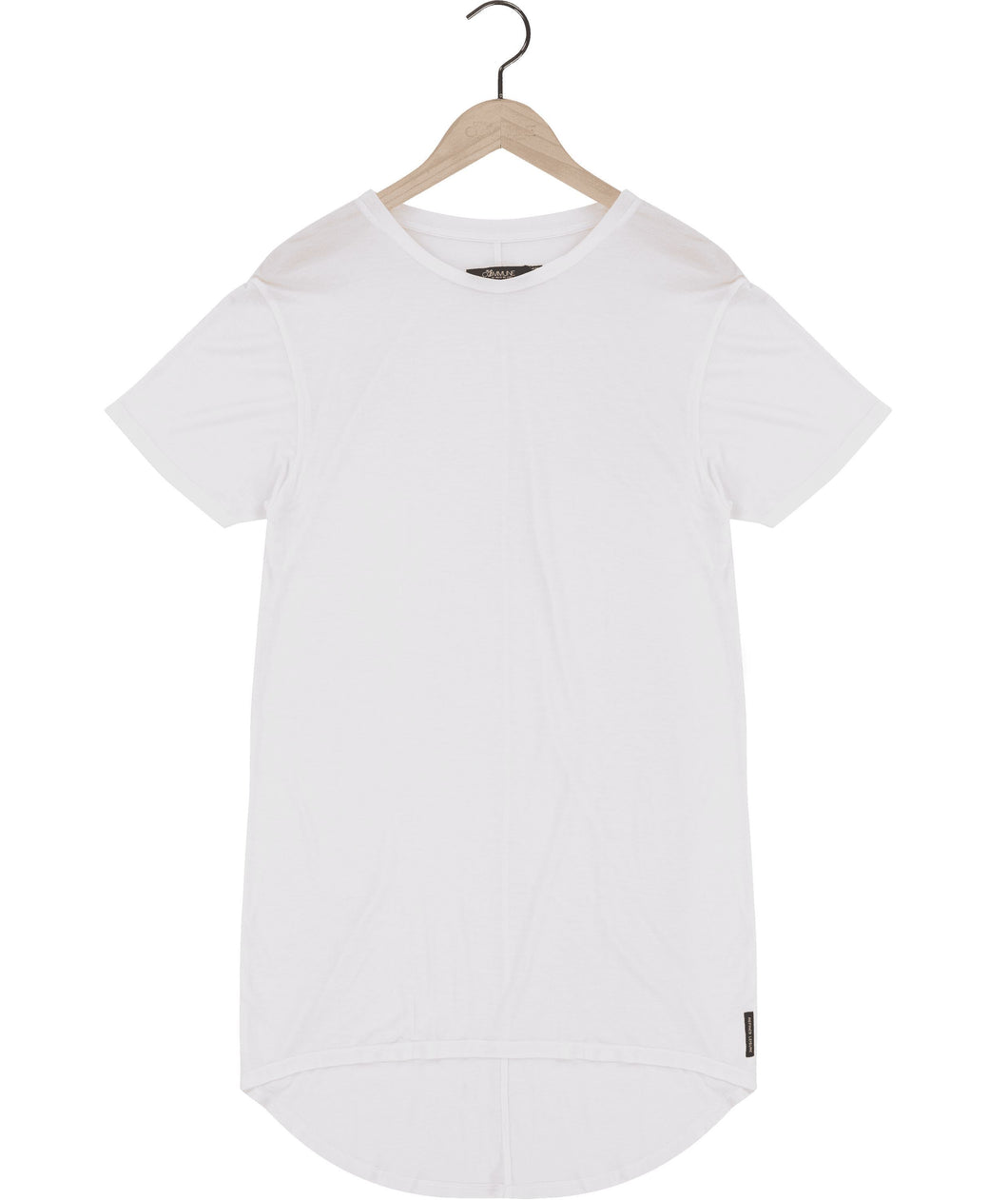 Clean long silk jersey t-shirt in white Top DE LA COMMUNE