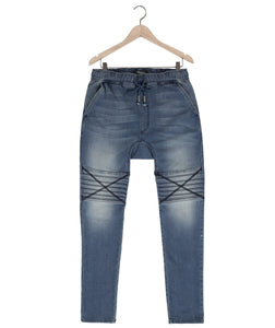 Damian moto jeans in spectra blue Bottom DE LA COMMUNE