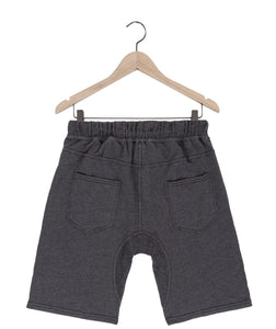 Jasper drop crotch french terry shorts in graphite mix Bottom DE LA COMMUNE
