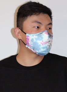Scuba Face Covering with 7 Filters - Blue Face Mask by REESEDELUCA