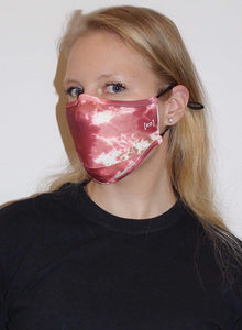 Scuba Face Covering with 7 Filters - Red Face Mask by REESEDELUCA