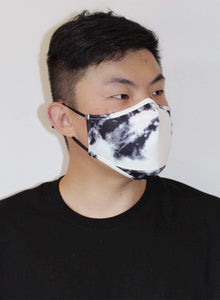 Scuba Face Covering with 7 Filters - White Face Mask by REESEDELUCA