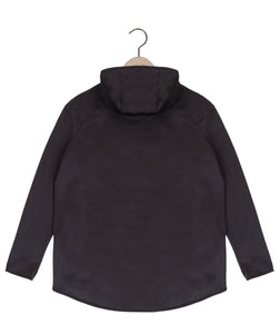 Scuba moto jacket in black Top DE LA COMMUNE