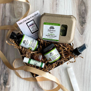aromatherapy gift box with lemongrass