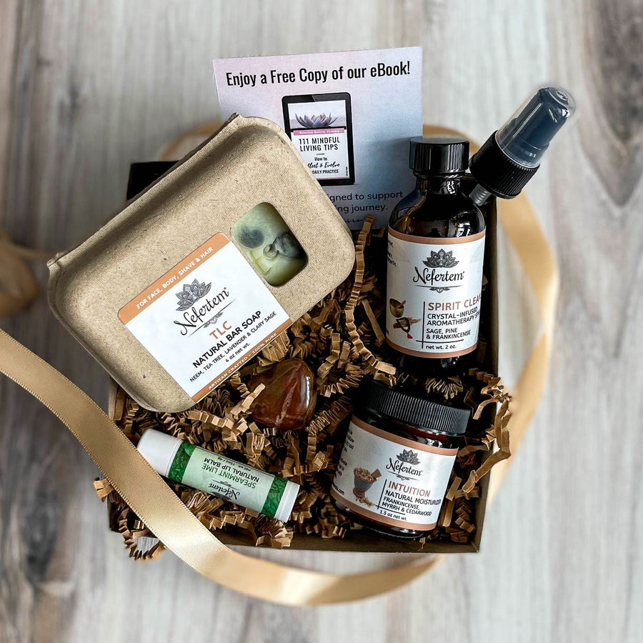aromatherapy gift box for how to cleanse myself