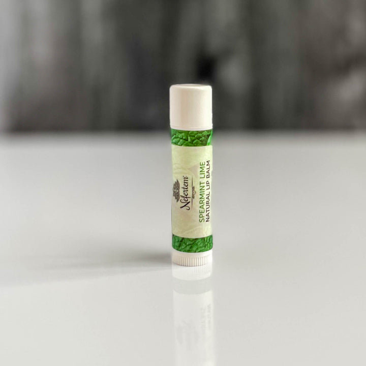 spearmint lime natural lip balm
