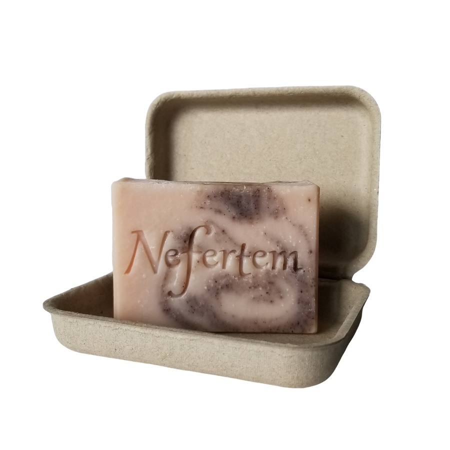 lavender organic soap with rose clay