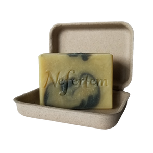 natural soap bar inside box