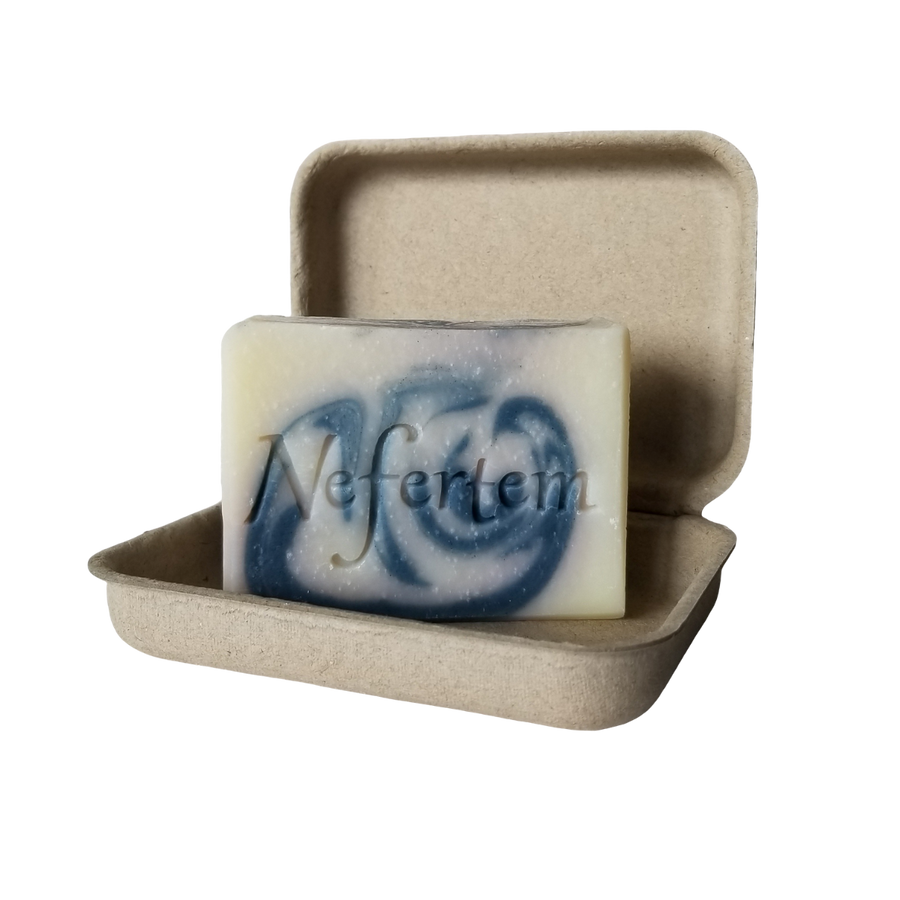 organic soap with peppermint and rosemary