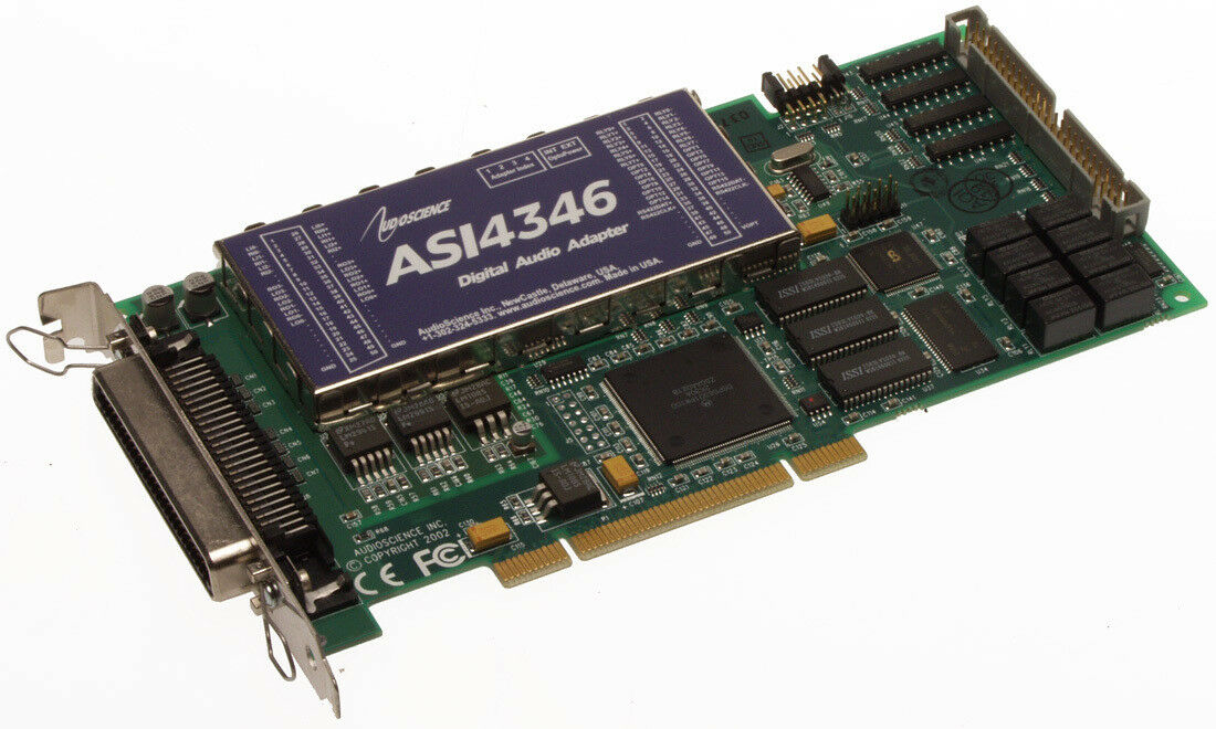 AudioScience ASI4346 Broadcast Multichannel Balanced Audio Sound Card ASI 4346 [Refurbished]-www.prostudioconnection.com