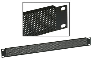Middle Atlantic VTF1 Perforated 1U Flat Black Rackmount Panel Vent 25% Open Area [New]-www.prostudioconnection.com