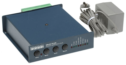 Broadcast Tools SM-III Plus Silence Monitor Audio Loss Failover Switch Alarm [Used]-www.prostudioconnection.com