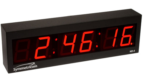 NEW Symmetricom ND-4 NTP Internet IP Synchonized Red LED Wall Clock Ethernet ND4-www.prostudioconnection.com