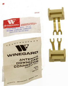 Winegard 300 Ohm Antenna Downlead to Terminal Block Screw Connector PAIR SP-12-www.prostudioconnection.com