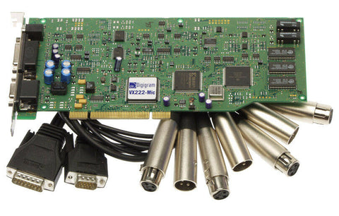 Digigram VX222 Mic AES/EBU Digital Audio Card w/Microphone Preamp & Cables [Refurbished]-www.prostudioconnection.com