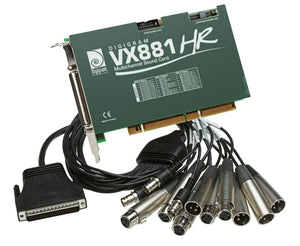 Digigram VX881HR Quad AES Digital Multichannel Broadcast Sound Card w XLR Cables [Refurbished]-www.prostudioconnection.com