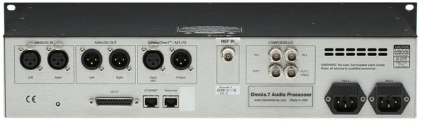 Telos Alliance Omnia 7 FM HD Radio Broadcast Audio Processor w/ Streaming & RDS [Refurbished]-www.prostudioconnection.com