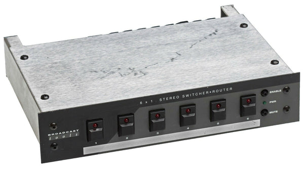 Broadcast Tools 6x1 Stereo Audio Matrix Switcher/Router Automation GPI RS-232 [Used]-www.prostudioconnection.com