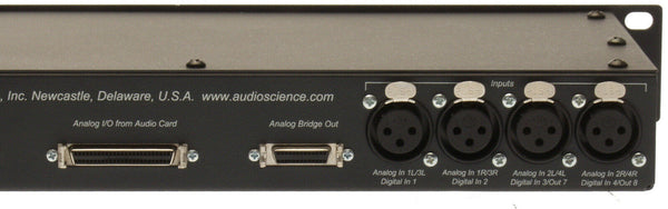 AudioScience BOB1024 Sound Card XLR Breakout Box Rackmounted 50 Pin Analog Cable [Used]-www.prostudioconnection.com