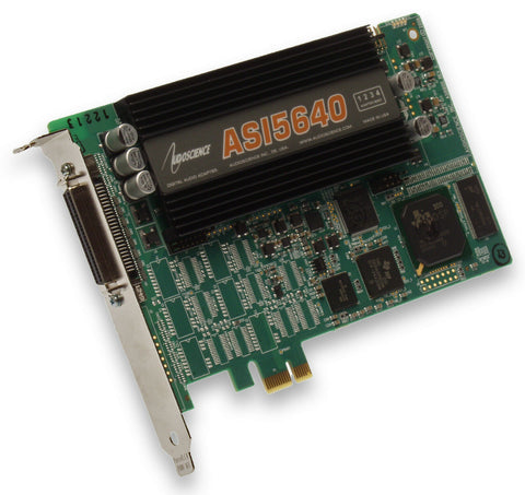 AudioScience ASI5640 Balanced Analog Multichannel Broadcast Sound Card ASI 5640 [Refurbished]-www.prostudioconnection.com