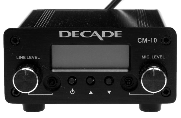 Decade CM-10 FM Stereo Transmitter Part 15 Low Power for Church w Mic/Line Input-www.prostudioconnection.com