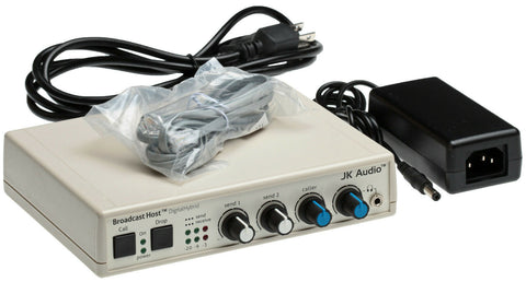 JK Audio Broadcast Host Audio Console Phone Line Interface Digital Hybrid IFB [Refurbished]-www.prostudioconnection.com