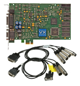 Digigram VX222e 24bit 192KHz AES Digital Broadcast Audio PCIe Card w/ XLR Cables [Refurbished]-www.prostudioconnection.com