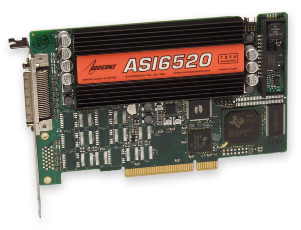 AudioScience ASI6520 Broadcast Balanced Analog XLR Multichannel PCI Sound Card [Refurbished]-www.prostudioconnection.com