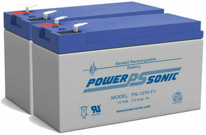 Powersonic PS-1270 Replacement Rhino Battery - 2 Pack PS1270F1 Sealed Lead Acid [New]-www.prostudioconnection.com