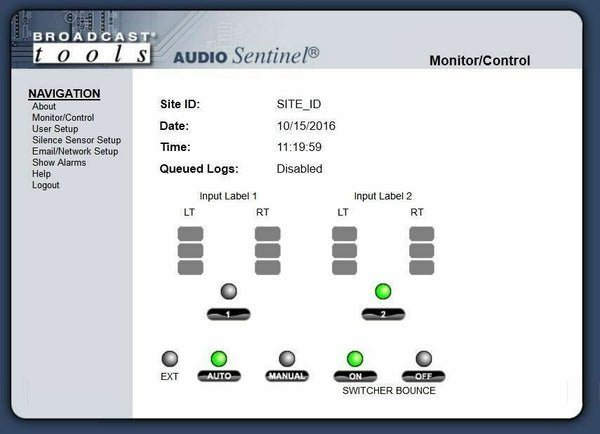 Broadcast Tools Audio Sentinel Web Signal Monitor Silence Sensor Failover Relay [Refurbished]-www.prostudioconnection.com