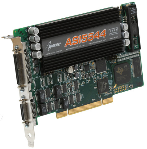Audioscience ASI5544 Broadcast AES Digital & Balanced Analog Audio Sound Card [Refurbished]-www.prostudioconnection.com