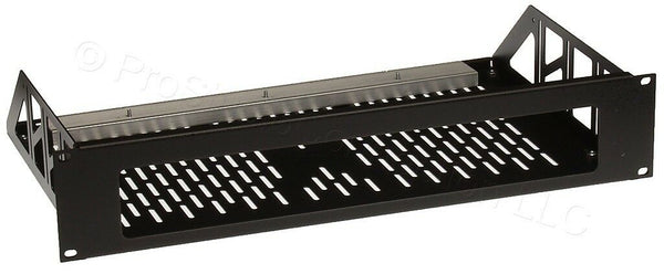 Middle Atlantic Antex DMX8 USB Audio Mixer 2U Rackmount Chassis Shelf Adapter-www.prostudioconnection.com