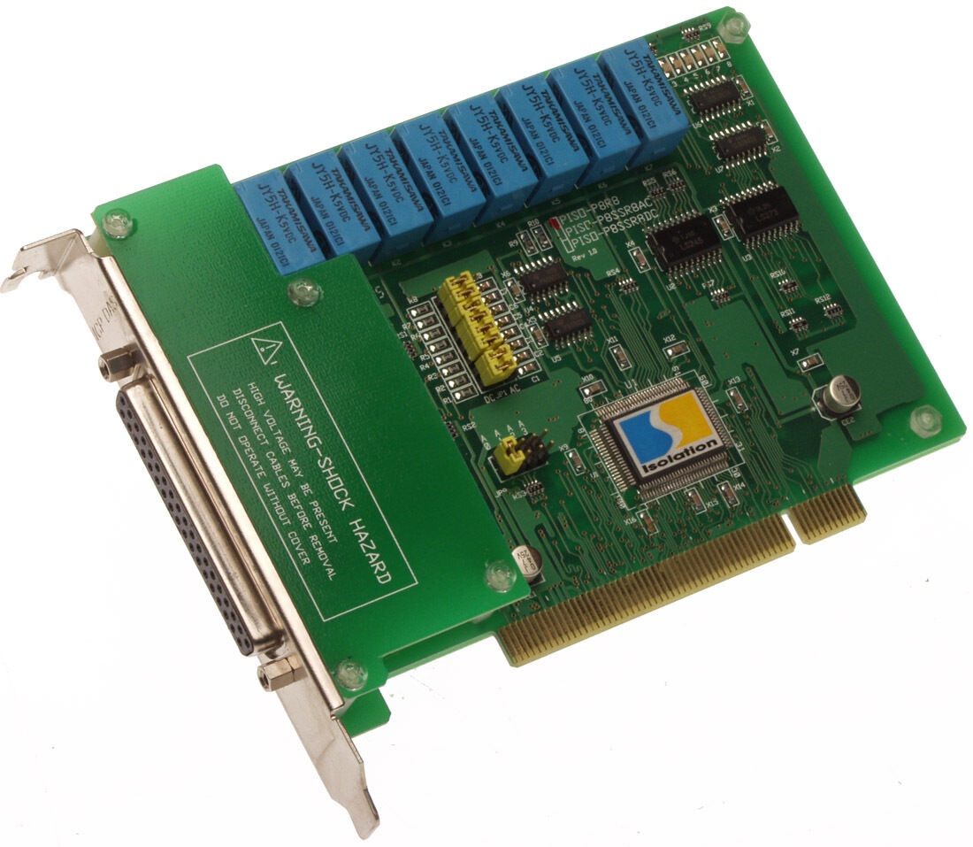 ICP DAS PISO-P8R8 Opto-Isolated 8 Digital Input/Relay Output PCI Interface Board [Used]-www.prostudioconnection.com